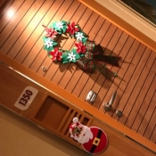 You can decorate your door, even on a cruise ship
